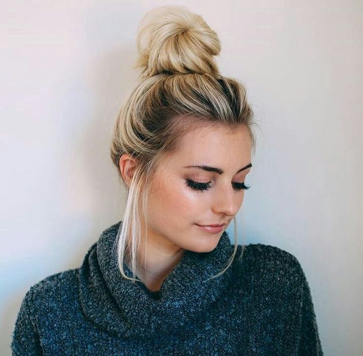 Lazy-bun.. 70+ Outdated Hairstyle Ideas Coming Back in 2021