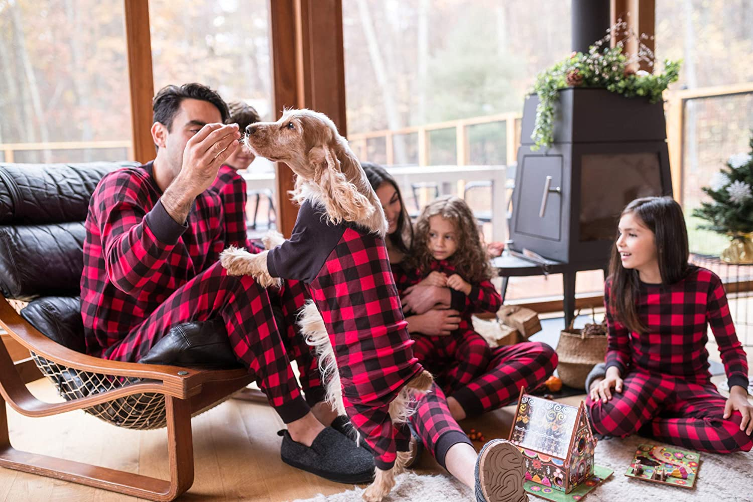 Leveret-Dog-Pajamas-Matching-Christmas-Pjs-for-Dogs-100-Cotton. Cutest 10 Pajamas for Dogs on Amazon in 2021/2022