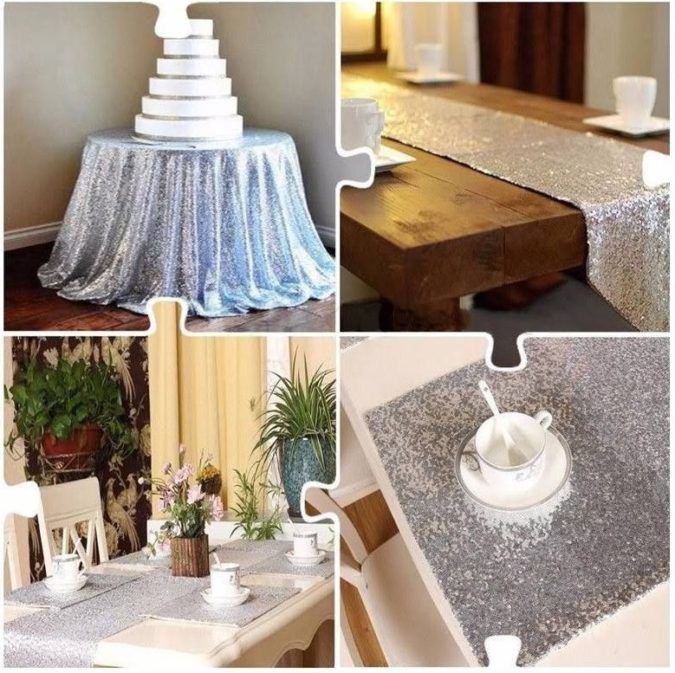 Silver-Glitter-party-table..-2-675x673 70+ Hottest Marriage Anniversary Decoration Ideas at Home