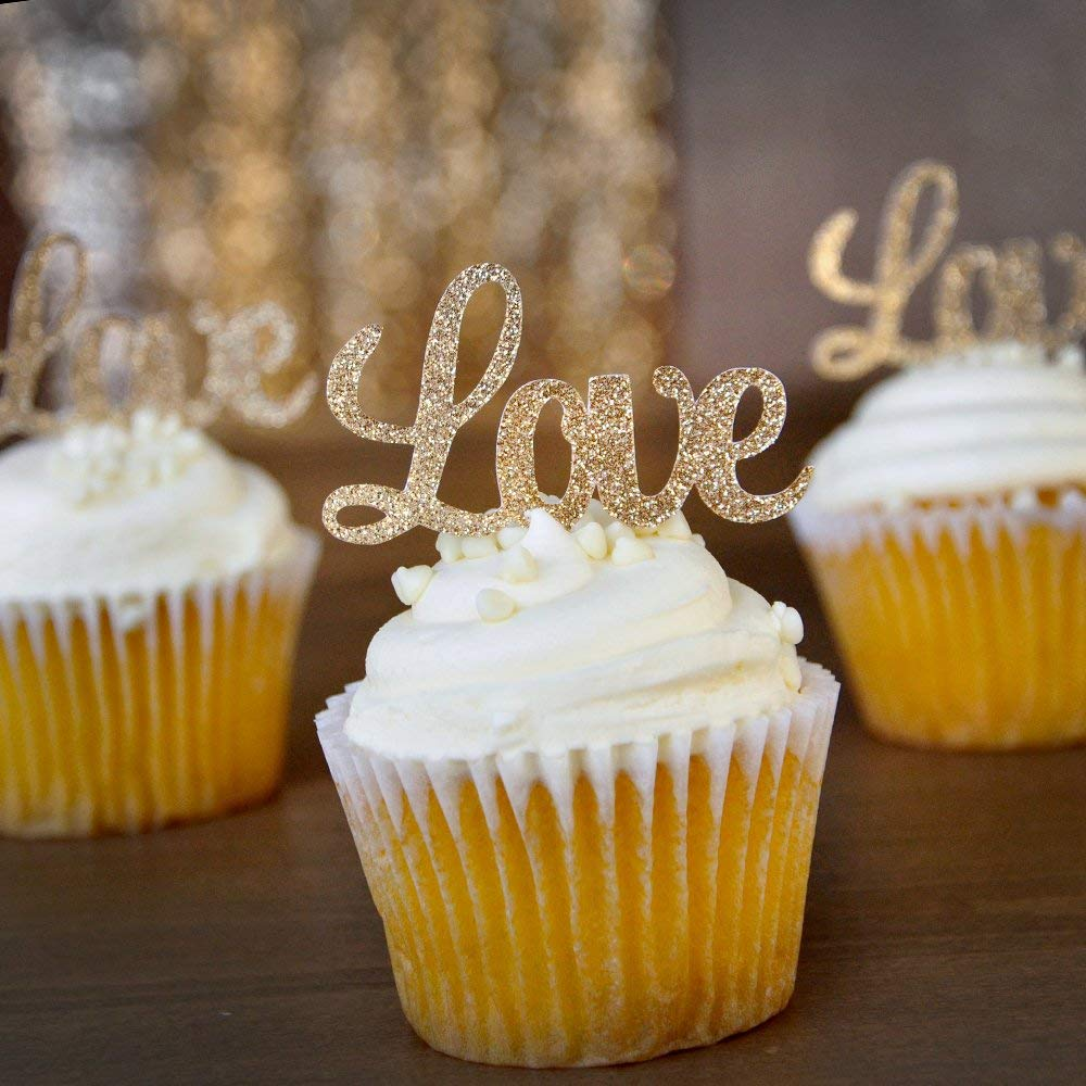 cupcake-toppers... 70+ Hottest Marriage Anniversary Decoration Ideas at Home