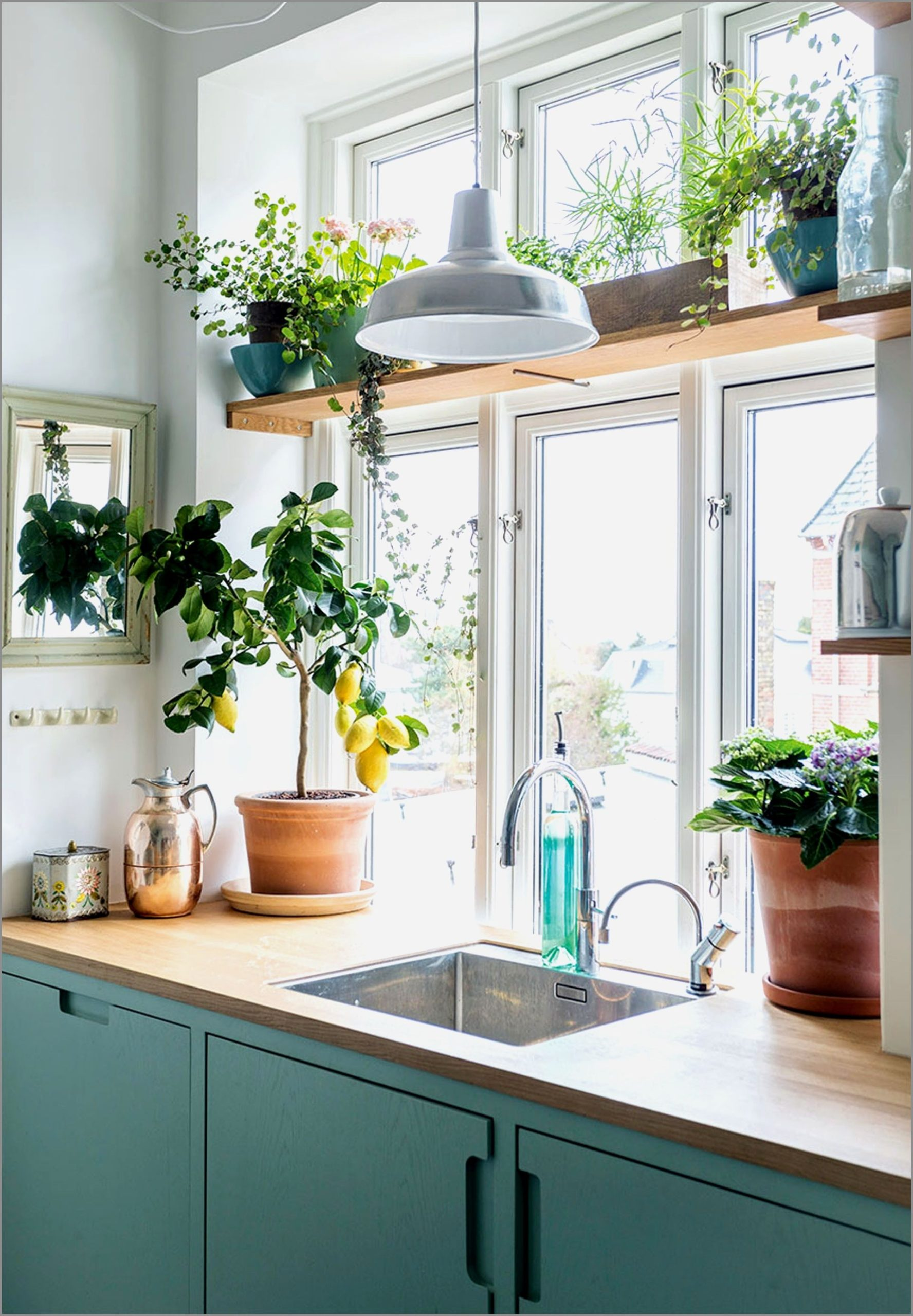 Adding-plants-2-scaled 80+ Unusual Kitchen Design Ideas for Small Spaces in 2021