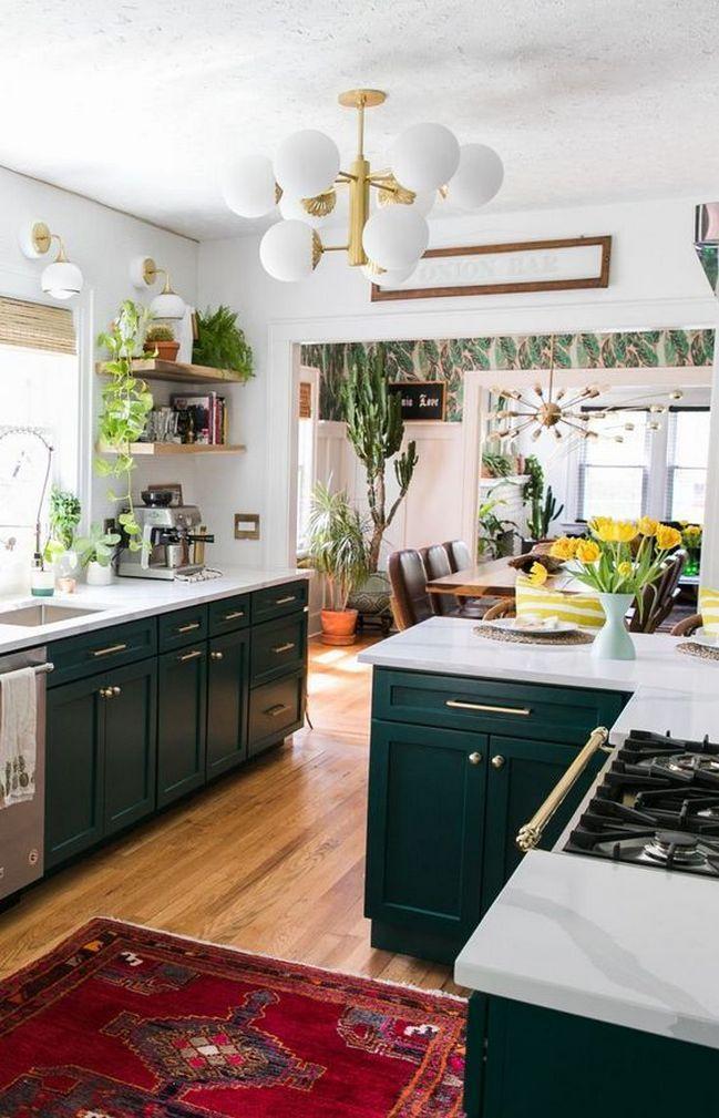 Adding-plants.-1 80+ Unusual Kitchen Design Ideas for Small Spaces in 2021