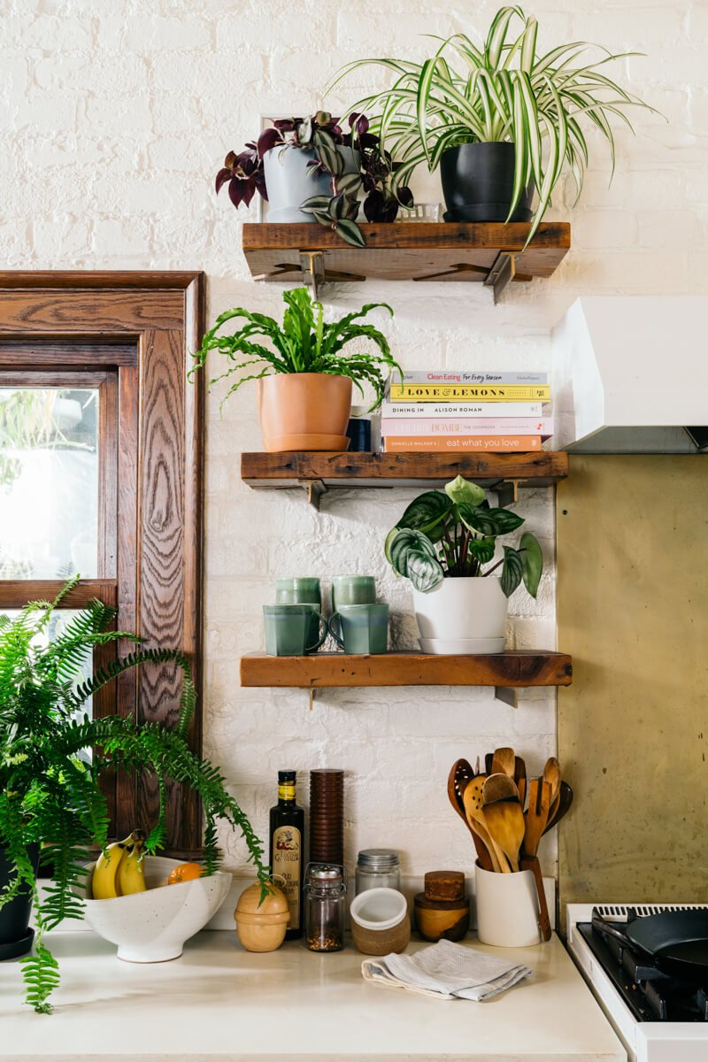 Adding-plants... 80+ Unusual Kitchen Design Ideas for Small Spaces in 2021