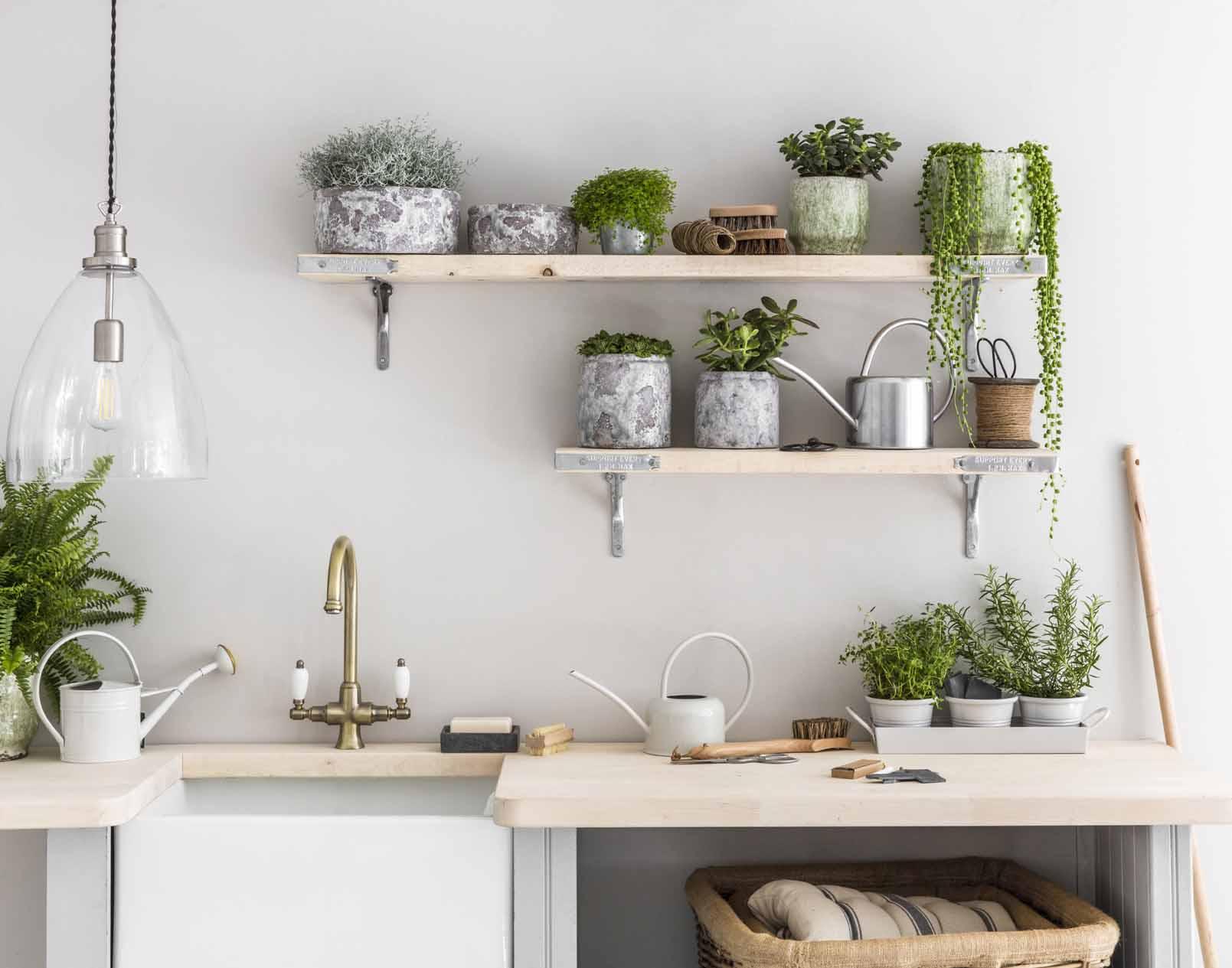 Adding-plants.. 80+ Unusual Kitchen Design Ideas for Small Spaces in 2021