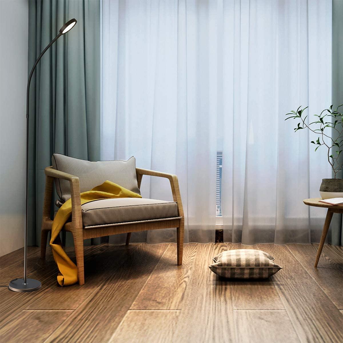 Dodocool-Floor-Lamp-Remote-Touch-Control. 10 Unique Floor Lamps to Brighten Your Living Room