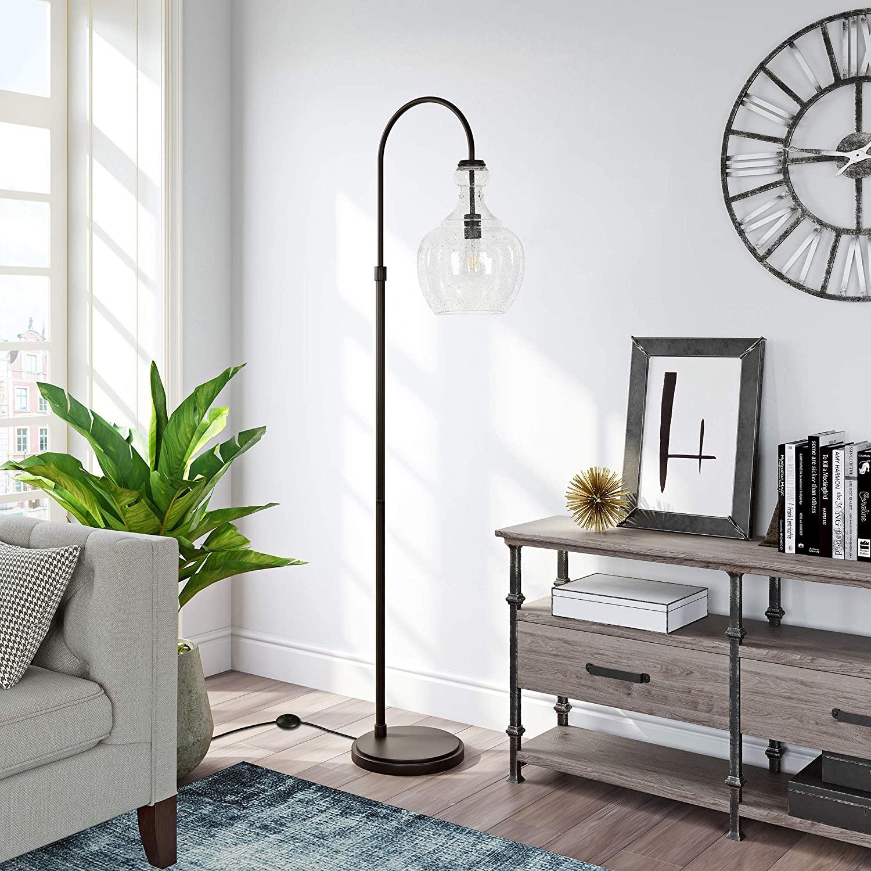 HennHart-Arc-Blackened-Bronze-Floor-Lamp 10 Unique Floor Lamps to Brighten Your Living Room