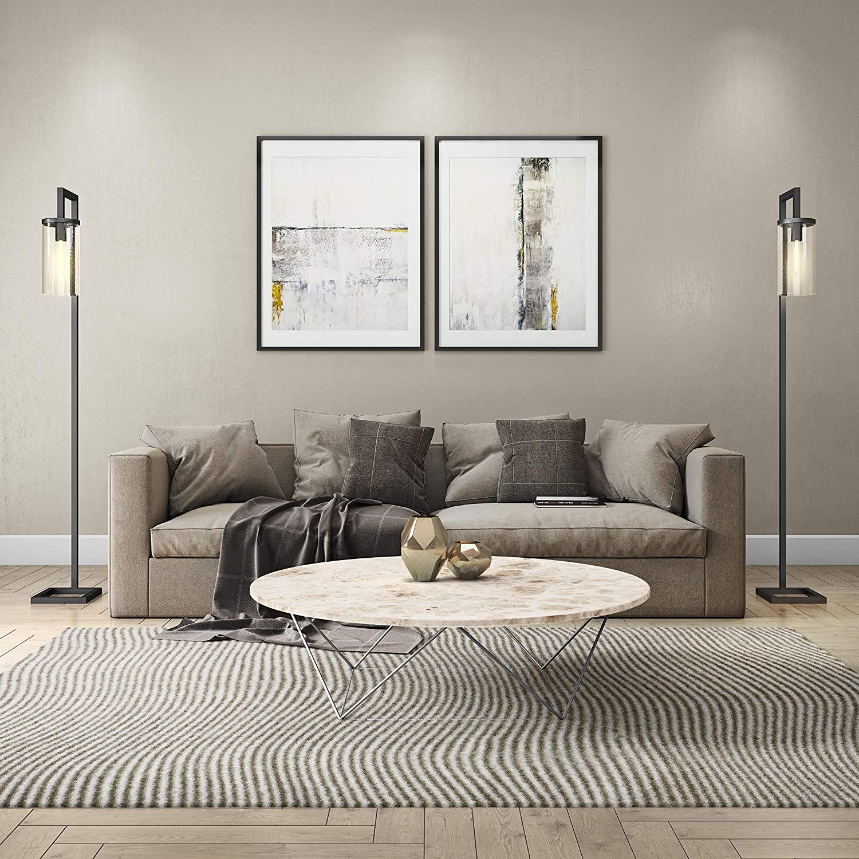 HennHart-FL0014-Modern-farmhouse-seeded-floor-lamp.-1 10 Unique Floor Lamps to Brighten Your Living Room