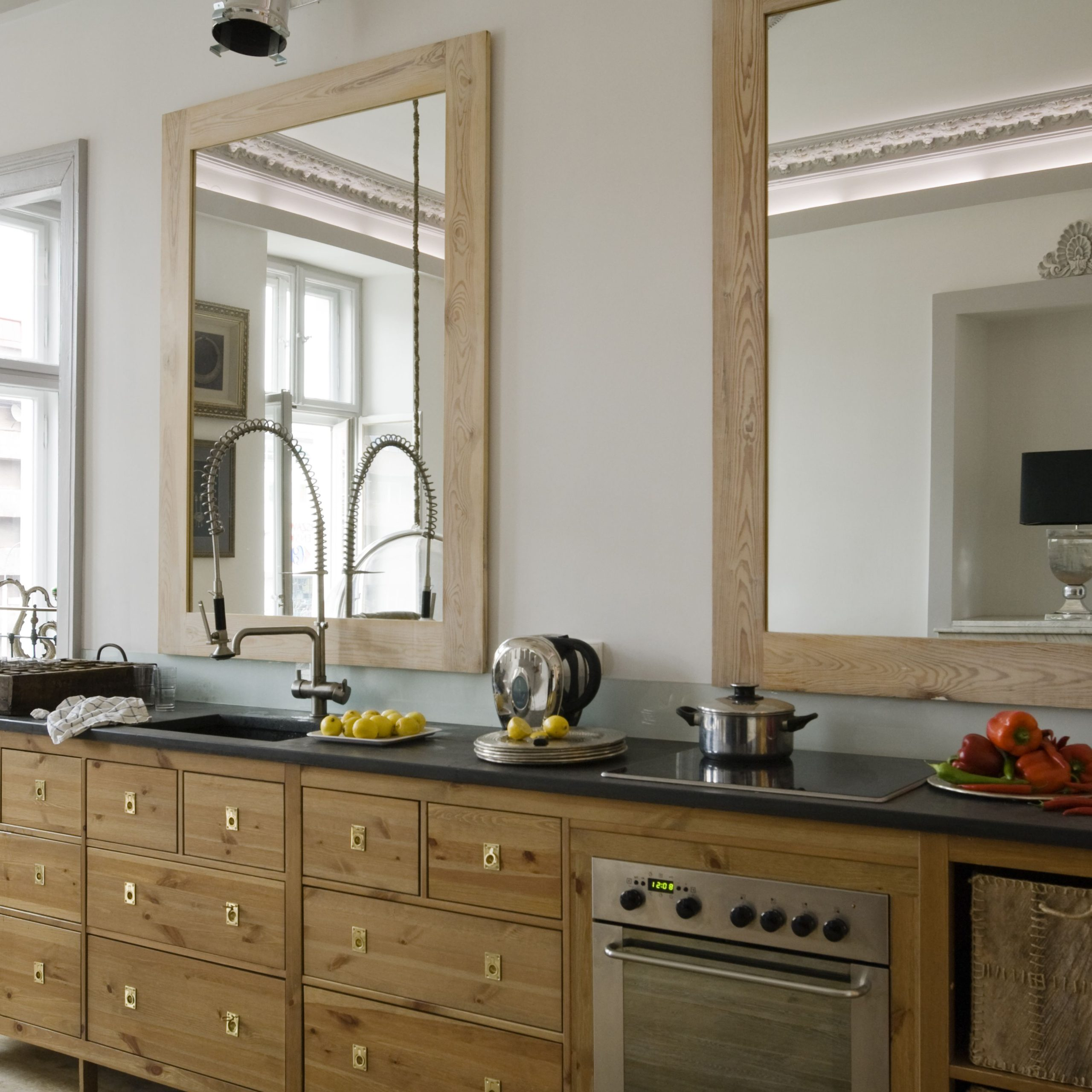 Mirrors-in-kitchens.-scaled 80+ Unusual Kitchen Design Ideas for Small Spaces in 2021