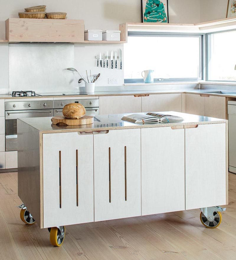 Movable-counter. 80+ Unusual Kitchen Design Ideas for Small Spaces in 2021