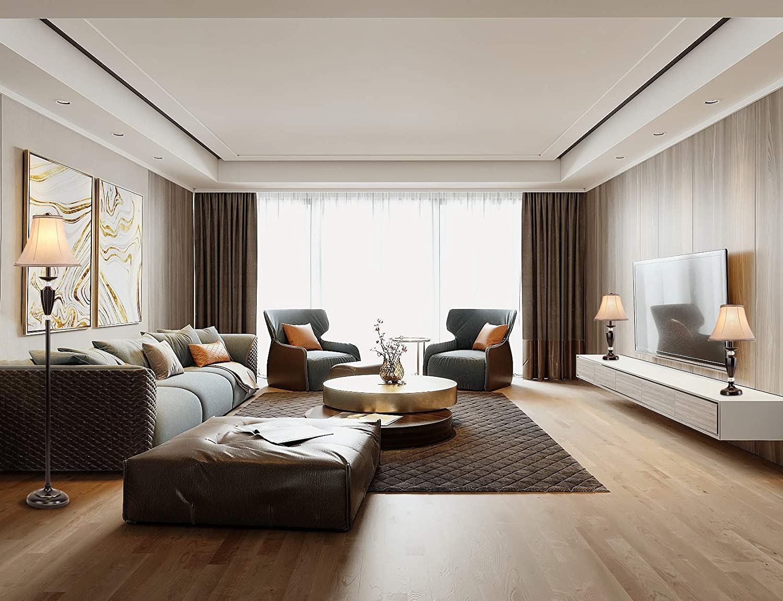 Smeike-3-Pack-Lamp-Set.. 10 Unique Floor Lamps to Brighten Your Living Room