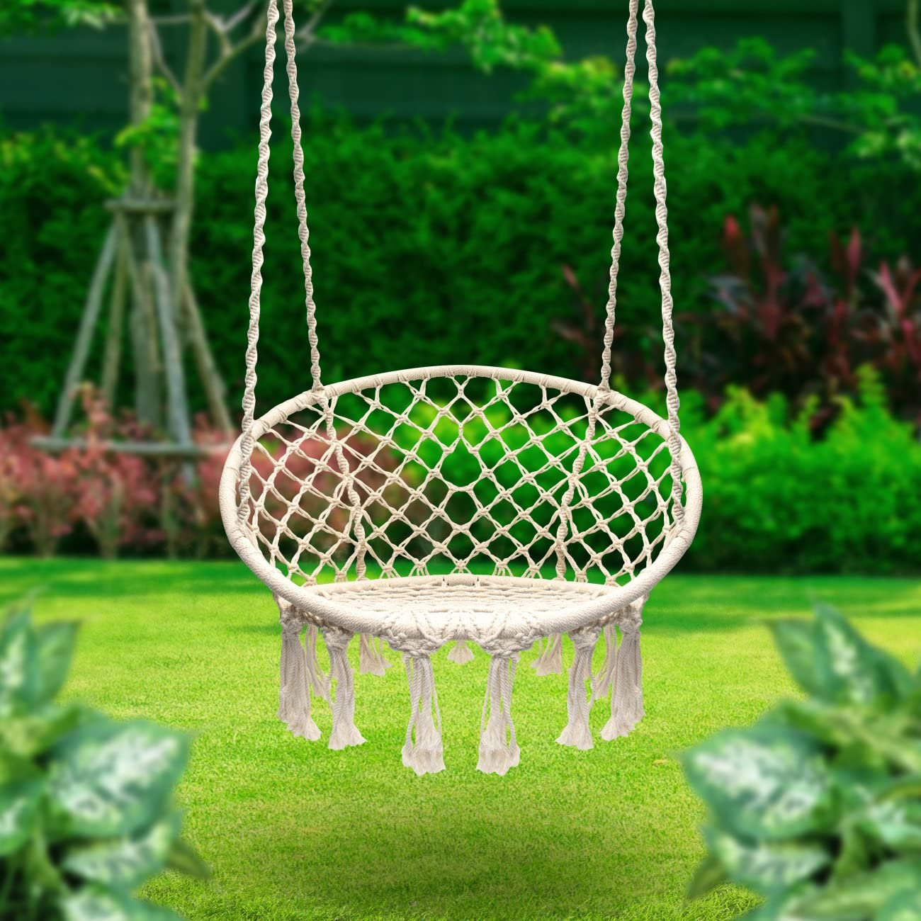 Sorbus-Hammock-Macrame 15 Unique Furniture Designs for Outdoor Small Spaces