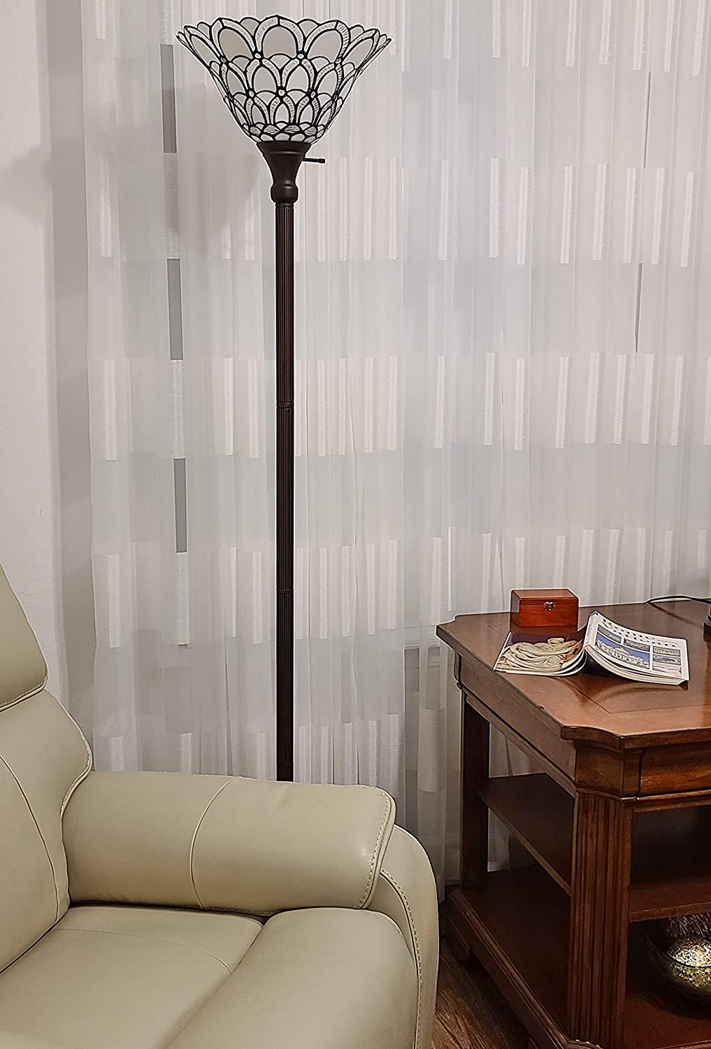 Tiffany-Style-Torchiere-Standing-Peacock-Floor-Lampv 10 Unique Floor Lamps to Brighten Your Living Room