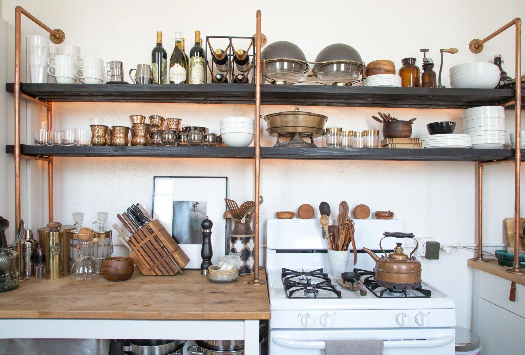 copper-pipes-1 80+ Unusual Kitchen Design Ideas for Small Spaces in 2021