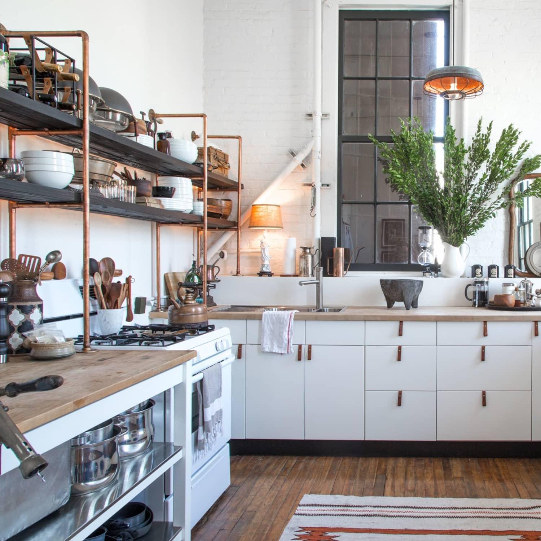 copper-pipes. 80+ Unusual Kitchen Design Ideas for Small Spaces in 2021