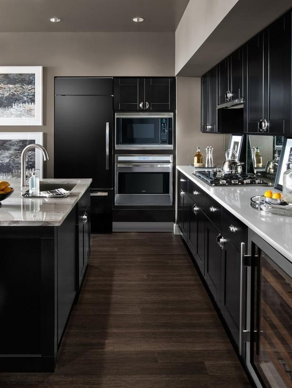 dark-paints.-1 80+ Unusual Kitchen Design Ideas for Small Spaces in 2021