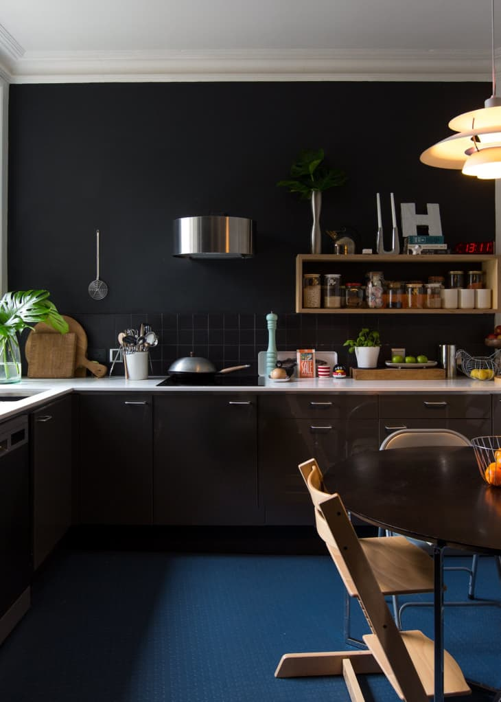 dark-paints.. 80+ Unusual Kitchen Design Ideas for Small Spaces in 2021