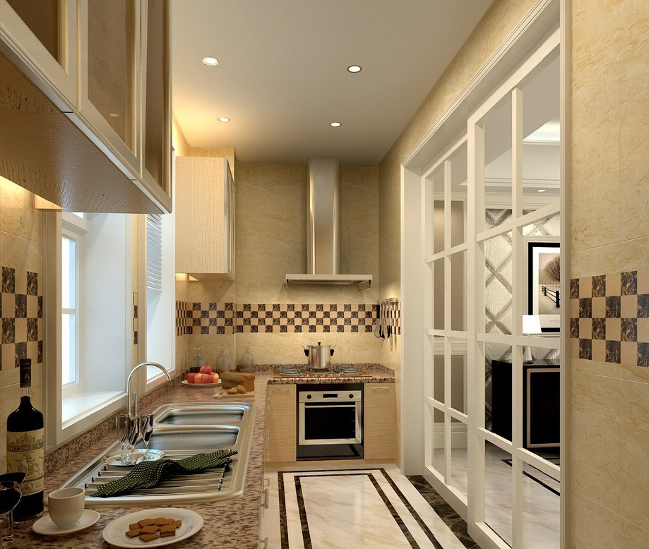glass-doors- 80+ Unusual Kitchen Design Ideas for Small Spaces in 2021