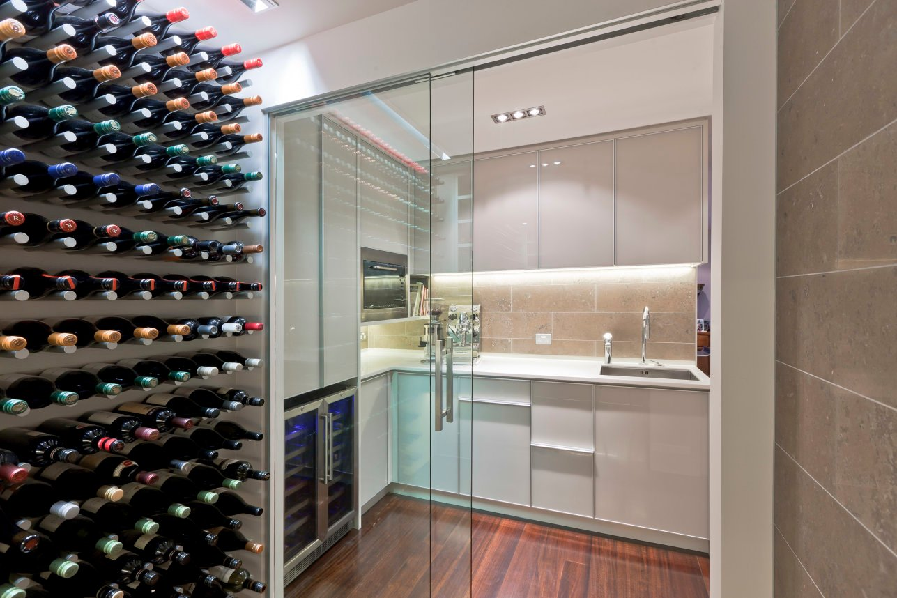glass-doors 80+ Unusual Kitchen Design Ideas for Small Spaces in 2021