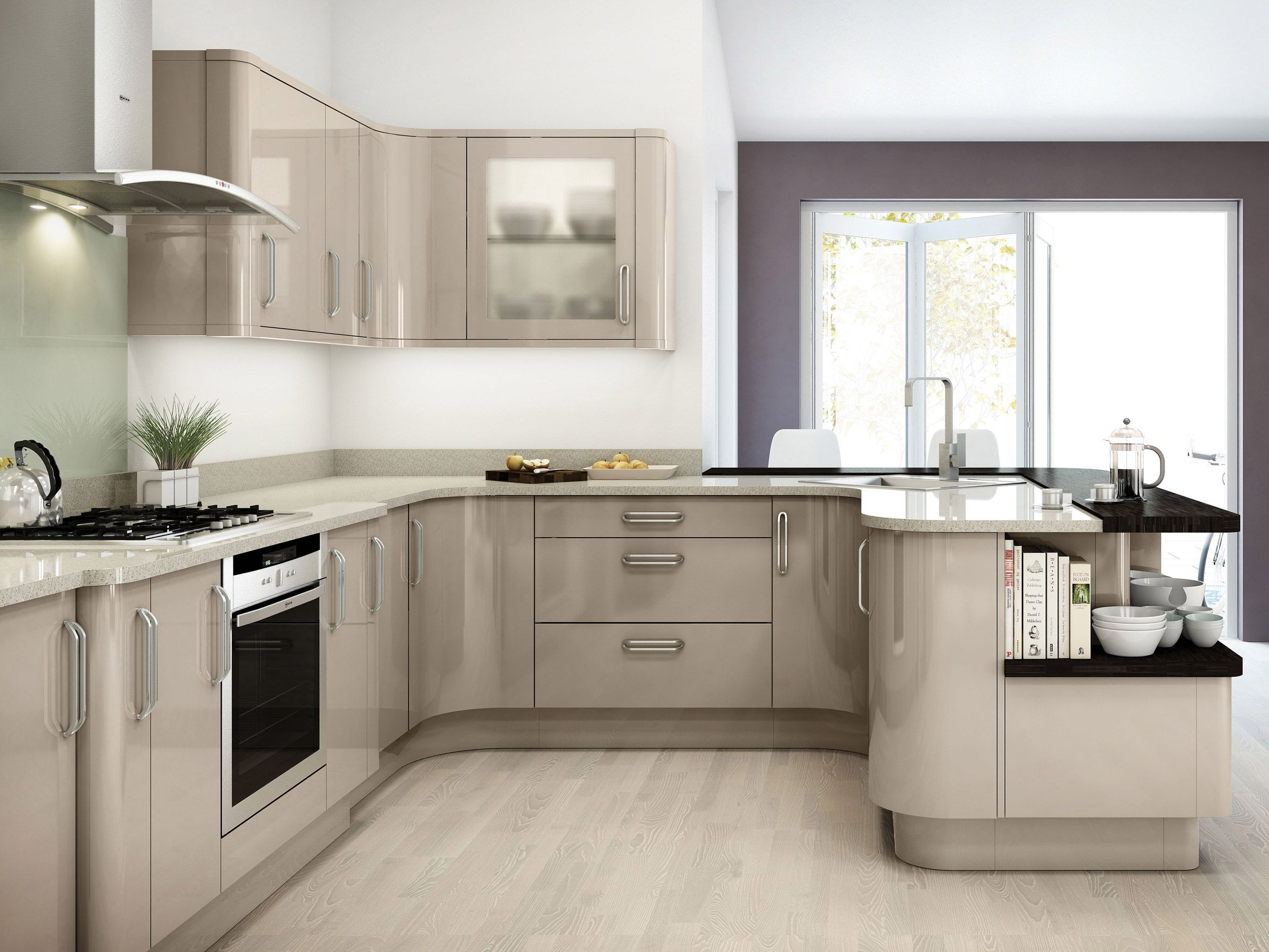 glossy-colors-in-kitchen-1 80+ Unusual Kitchen Design Ideas for Small Spaces in 2021