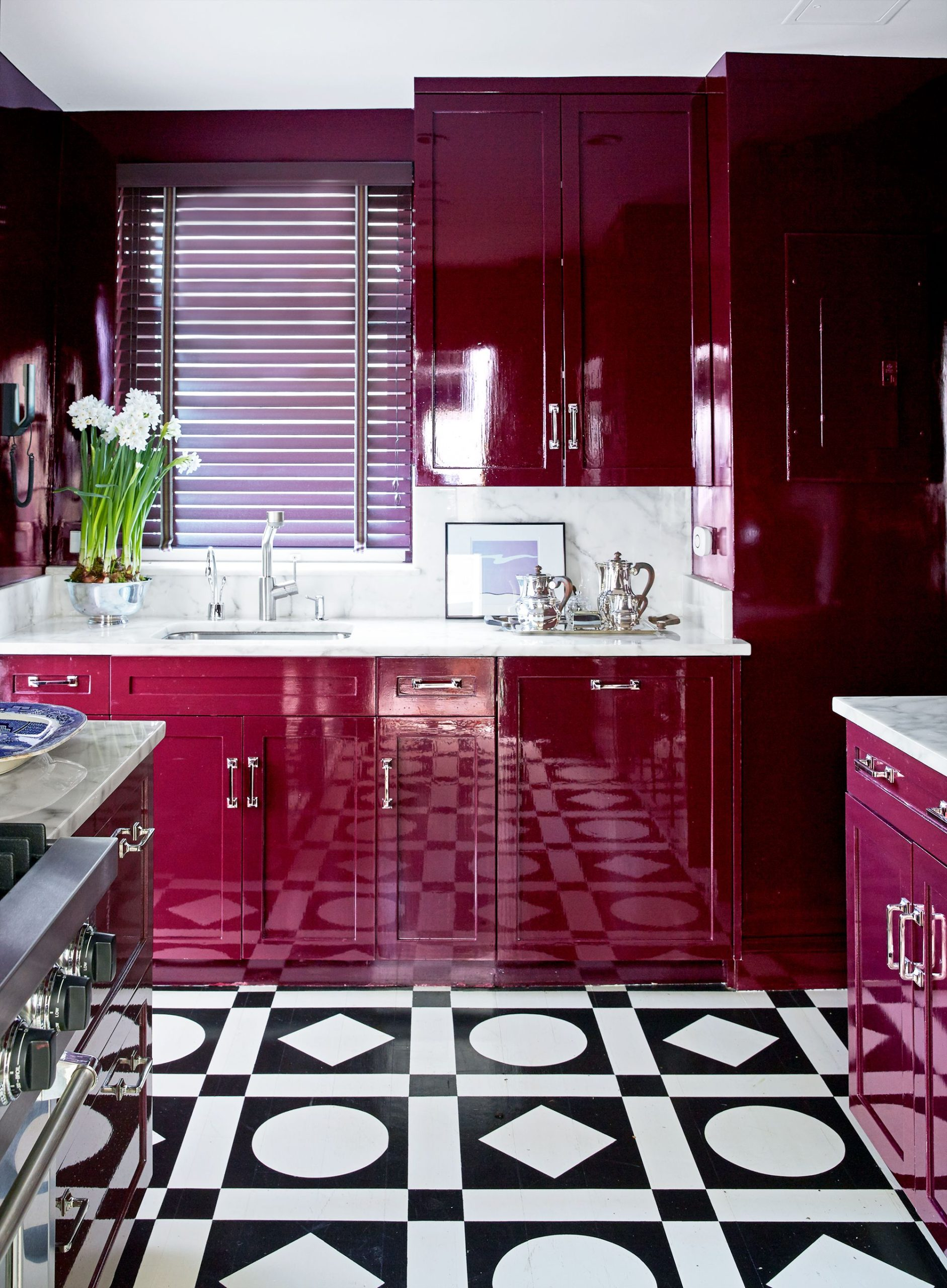 glossy-colors-in-kitchen-scaled 80+ Unusual Kitchen Design Ideas for Small Spaces in 2021