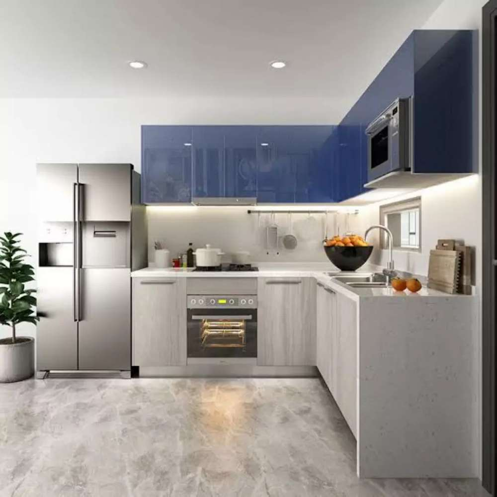glossy-colors-in-kitchen.. 80+ Unusual Kitchen Design Ideas for Small Spaces in 2021