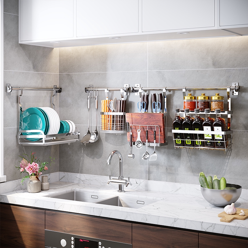 hanging-rod-2 80+ Unusual Kitchen Design Ideas for Small Spaces in 2021