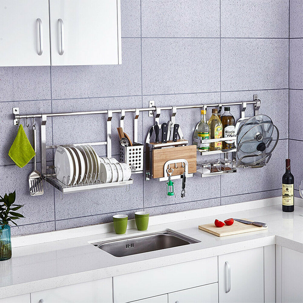 hanging-rod. 80+ Unusual Kitchen Design Ideas for Small Spaces in 2021
