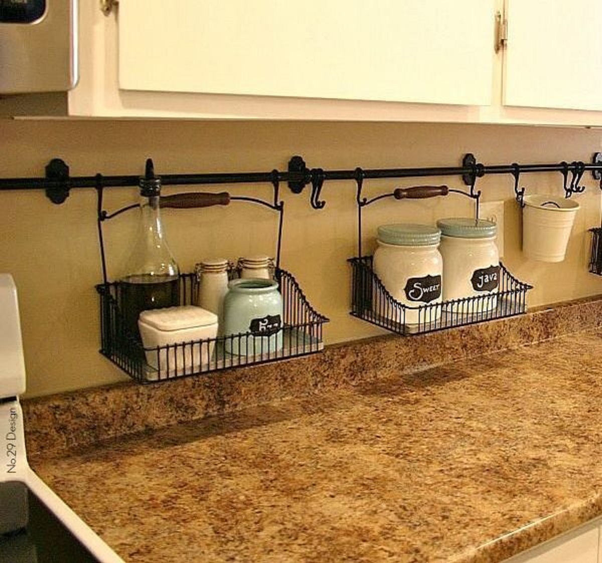 hanging-rod 80+ Unusual Kitchen Design Ideas for Small Spaces in 2021