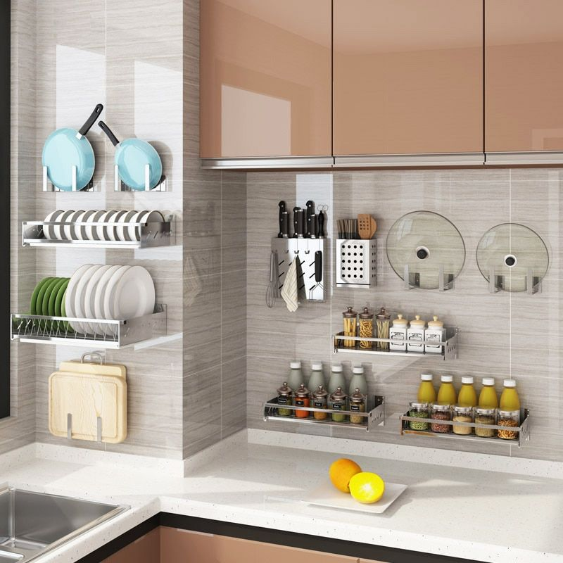 hanging-rods 80+ Unusual Kitchen Design Ideas for Small Spaces in 2021