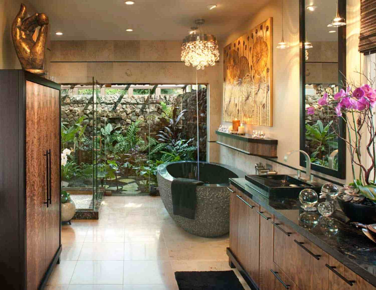 nature-in-bathroom-2 Best +60 Ideas to Enhance Your Bathroom's Luxuriousness
