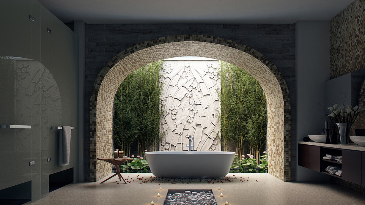nature-in-bathroom-3 Best +60 Ideas to Enhance Your Bathroom's Luxuriousness