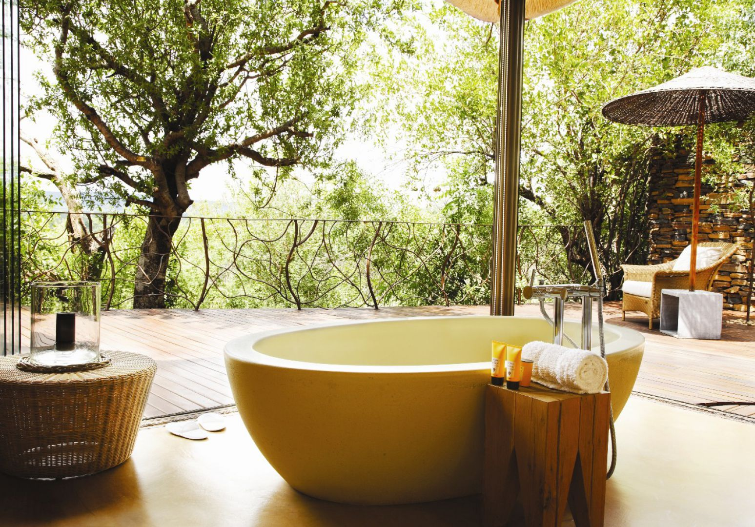 nature-in-bathroom.-1 Best +60 Ideas to Enhance Your Bathroom's Luxuriousness