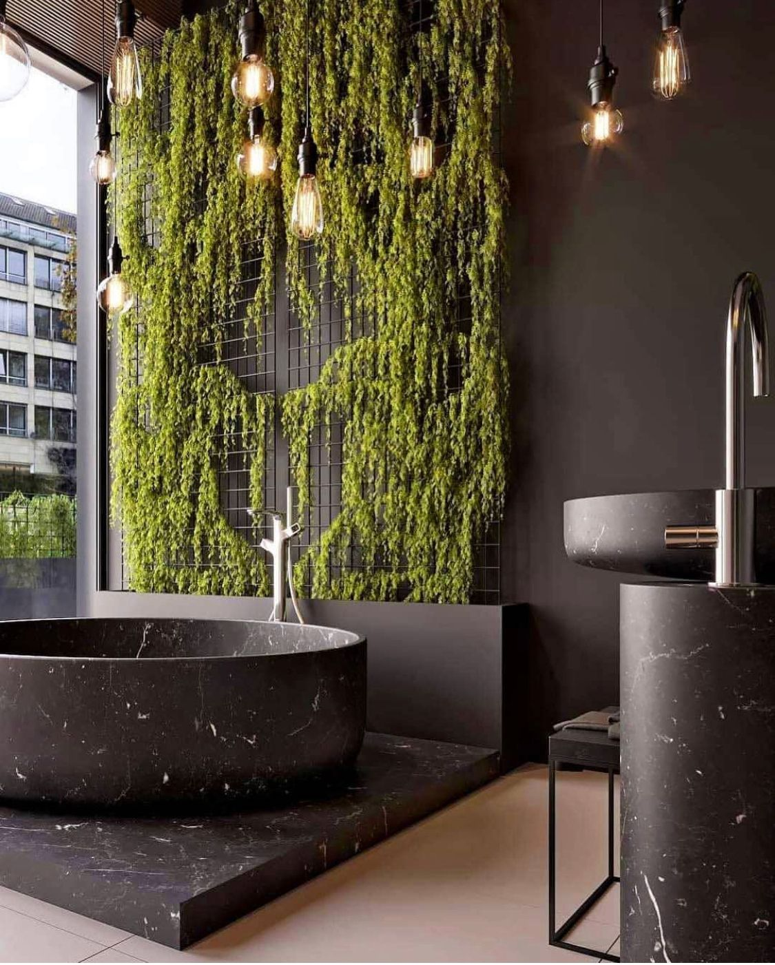 nature-in-bathroom.. Best +60 Ideas to Enhance Your Bathroom's Luxuriousness