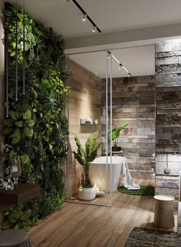 nature-in-bathroom. Best +60 Ideas to Enhance Your Bathroom's Luxuriousness