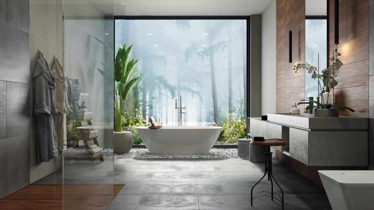 nature-in-bathroom Best +60 Ideas to Enhance Your Bathroom's Luxuriousness