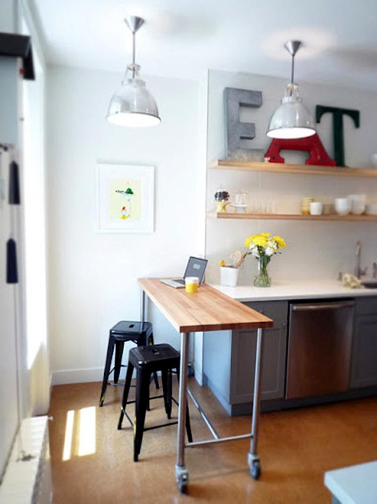 removable-counter 80+ Unusual Kitchen Design Ideas for Small Spaces in 2021