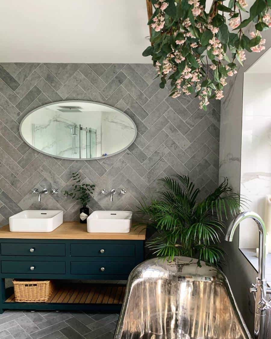 Accent-Wall Best +60 Ideas to Enhance Your Bathroom's Luxuriousness
