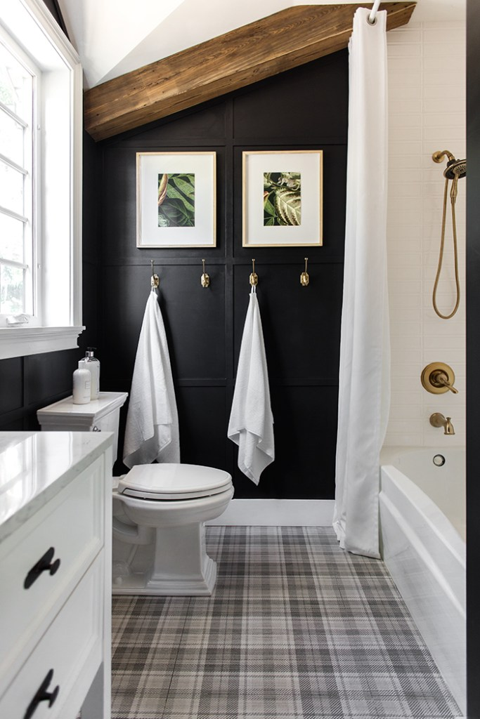 Accent-Walls.. Best +60 Ideas to Enhance Your Bathroom's Luxuriousness
