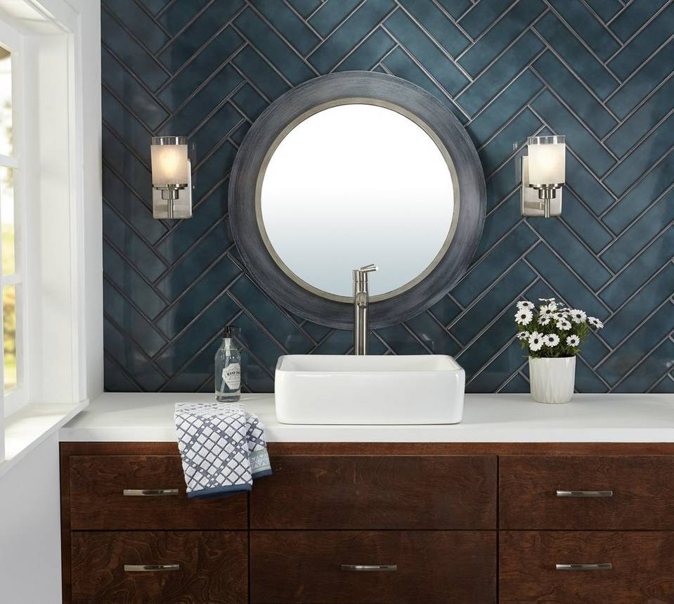 Accent-Walls. Best +60 Ideas to Enhance Your Bathroom's Luxuriousness