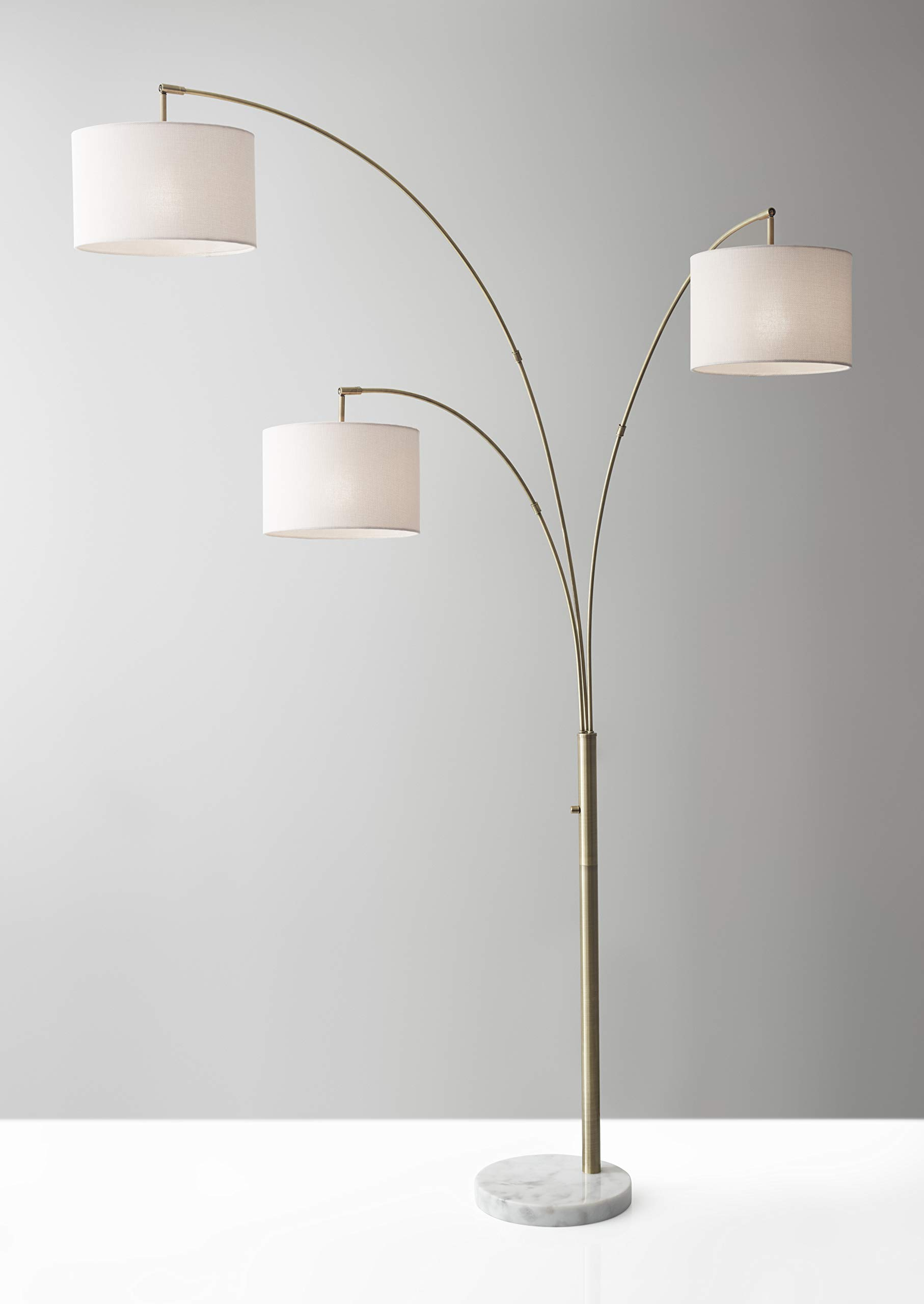 Adesso-4250-21-Bowery-3-Arm-Arc-Lamp-Brass-Antique-Bronze 15 Unique Artistic Floor Lamps to Light Your Bedroom
