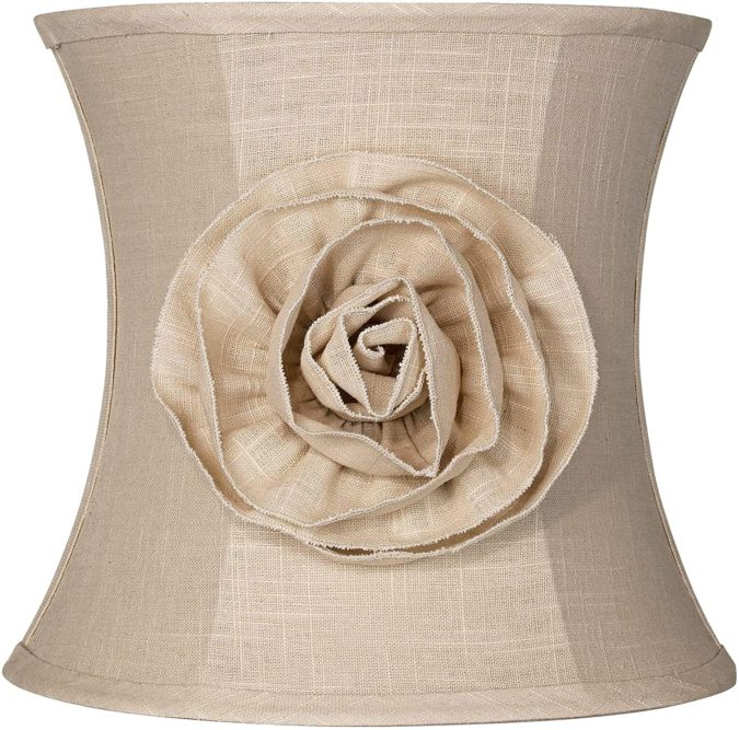 Almond-Linen-with-Flower-Lamp-Shade.-675x667 10 Unique & Wonderful Lampshade Ideas