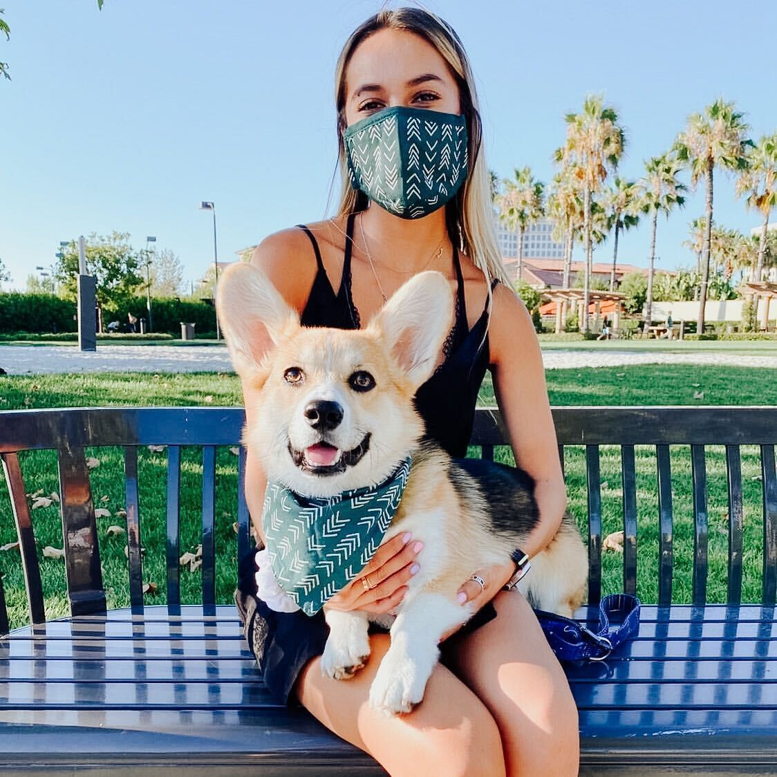 Bandana-and-facemask-for-twinning 10 Unique Luxury Gifts for Dogs That Amaze Everyone