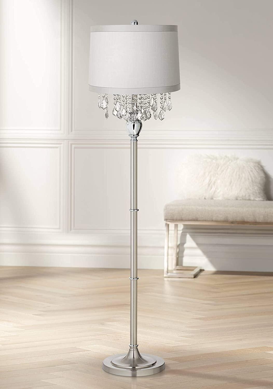 Crystals-Chandelier-Floor-Lamp 15 Unique Artistic Floor Lamps to Light Your Bedroom