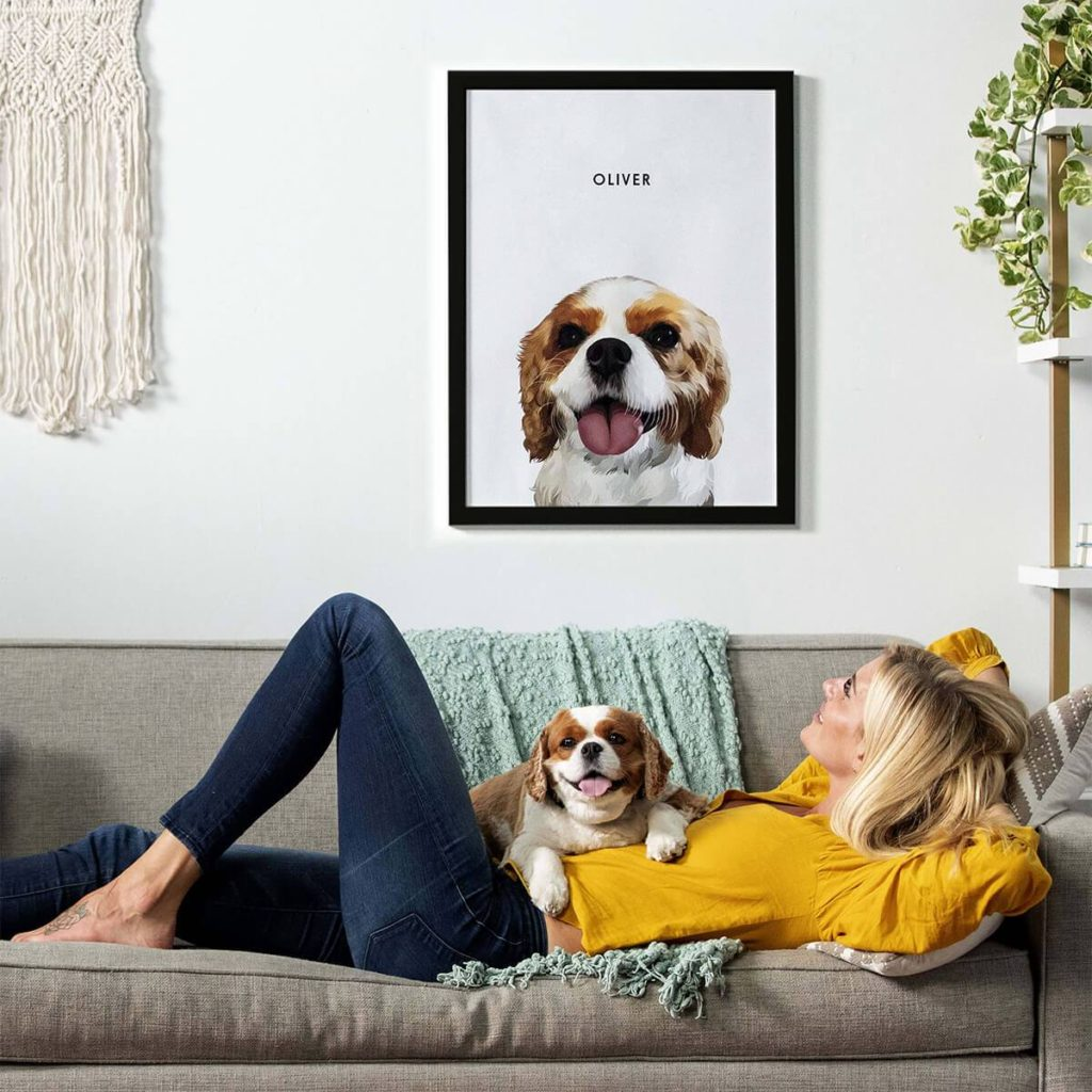 Custom-pet-portrait-1024x1024 10 Unique Luxury Gifts for Dogs That Amaze Everyone