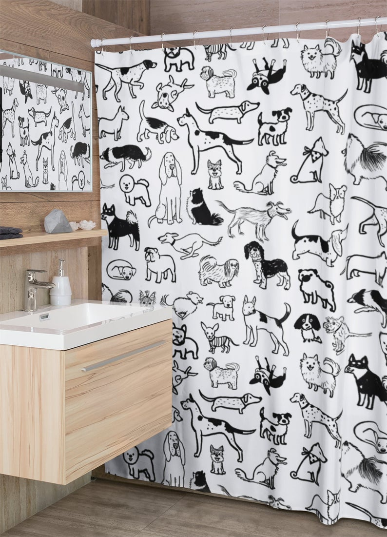 Dog-shower-curtain 10 Unique Luxury Gifts for Dogs That Amaze Everyone