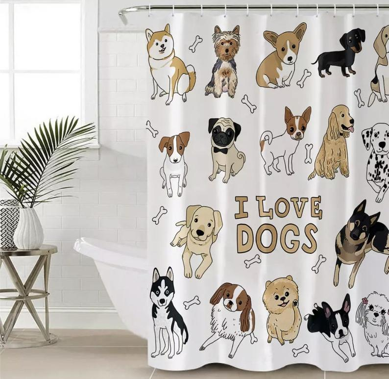 Dog-shower-curtains 10 Unique Luxury Gifts for Dogs That Amaze Everyone