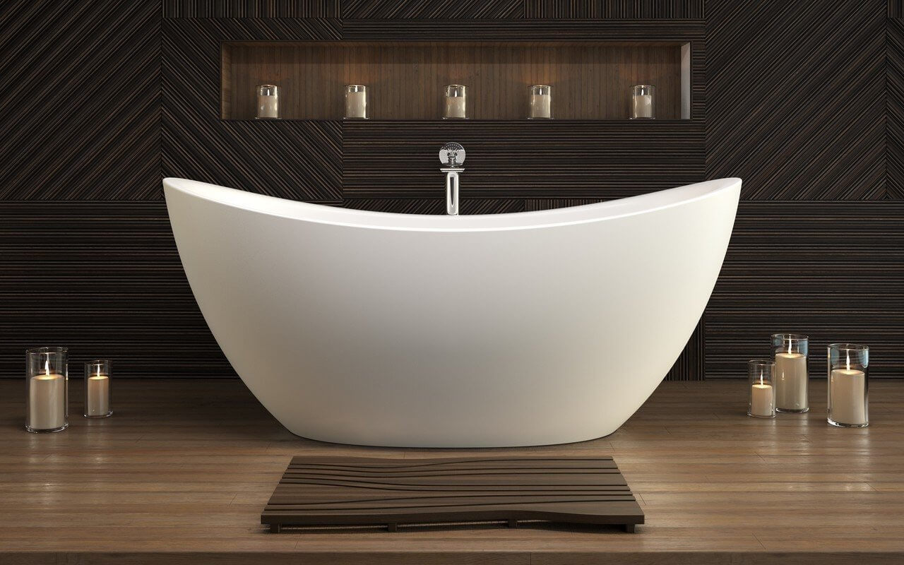 Freestanding-Bathtub.-1 Best +60 Ideas to Enhance Your Bathroom's Luxuriousness