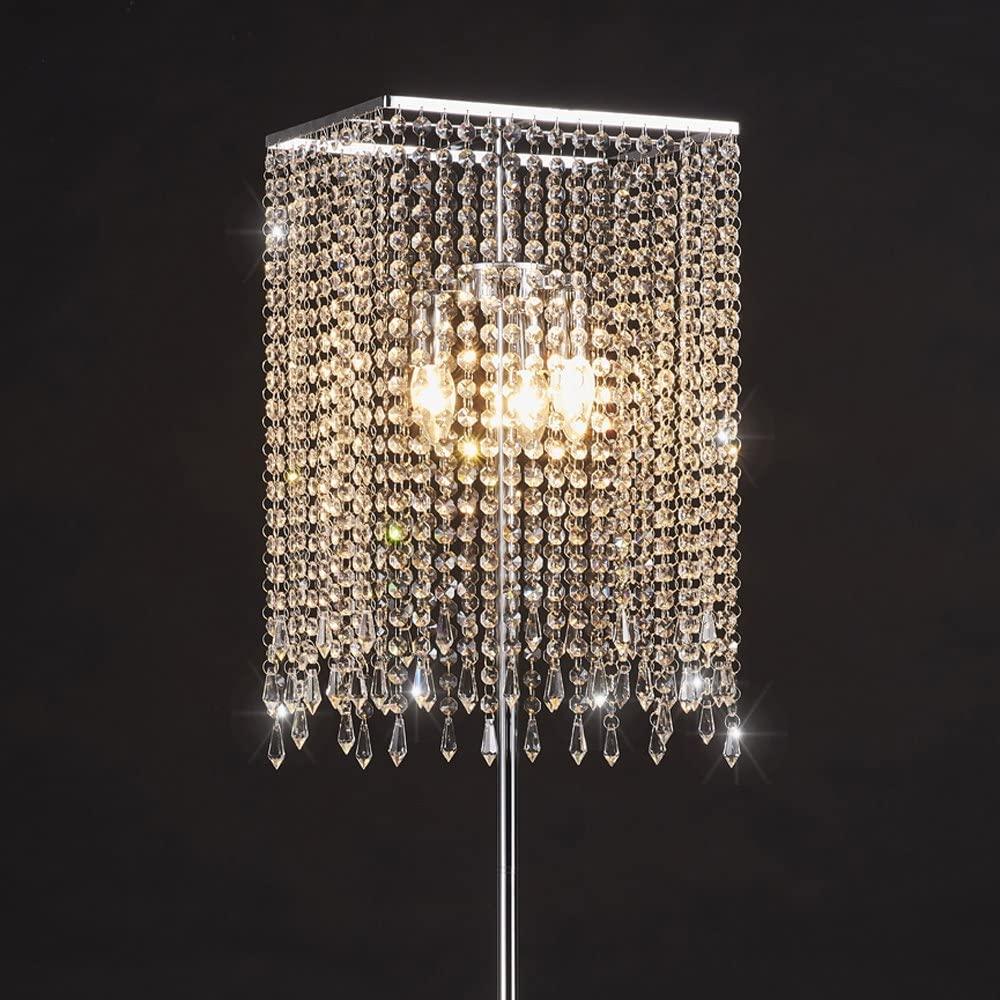 GDLMA-Silver-Crystal-Raindrop-Floor-Lamp-for-Bedroom. 15 Unique Artistic Floor Lamps to Light Your Bedroom