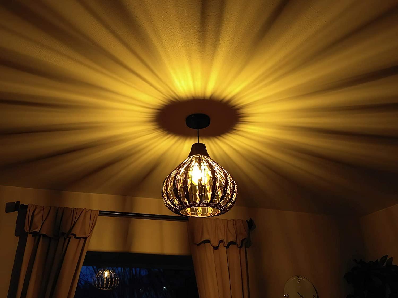 Handmade-Natural-Rattan-Lamp-Shade-1 10 Unique & Wonderful Lampshade Ideas