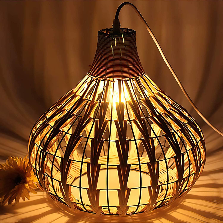 Handmade-Natural-Rattan-Lamp-Shade-2 10 Unique & Wonderful Lampshade Ideas